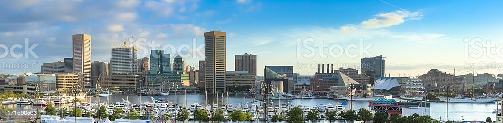 Baltimore Inner Harbor During 200th Anniversary of War of 1812 stock photo