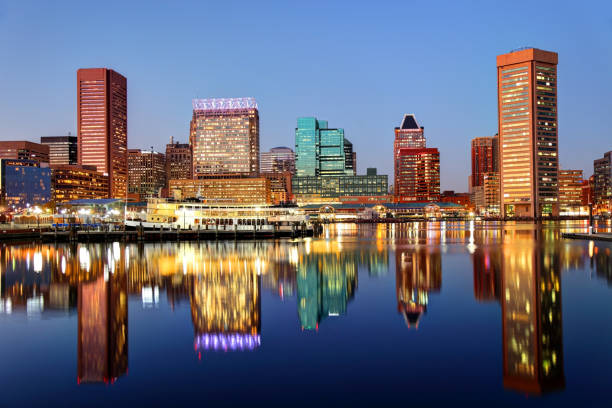 Baltimore Inner Harbor Baltimore's Inner Harbor is the city's premier tourist attraction and one of the city's crown jewels inner harbor baltimore stock pictures, royalty-free photos & images