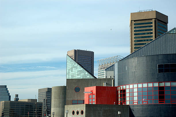 Baltimore Inner Harbor Skyline stock photo