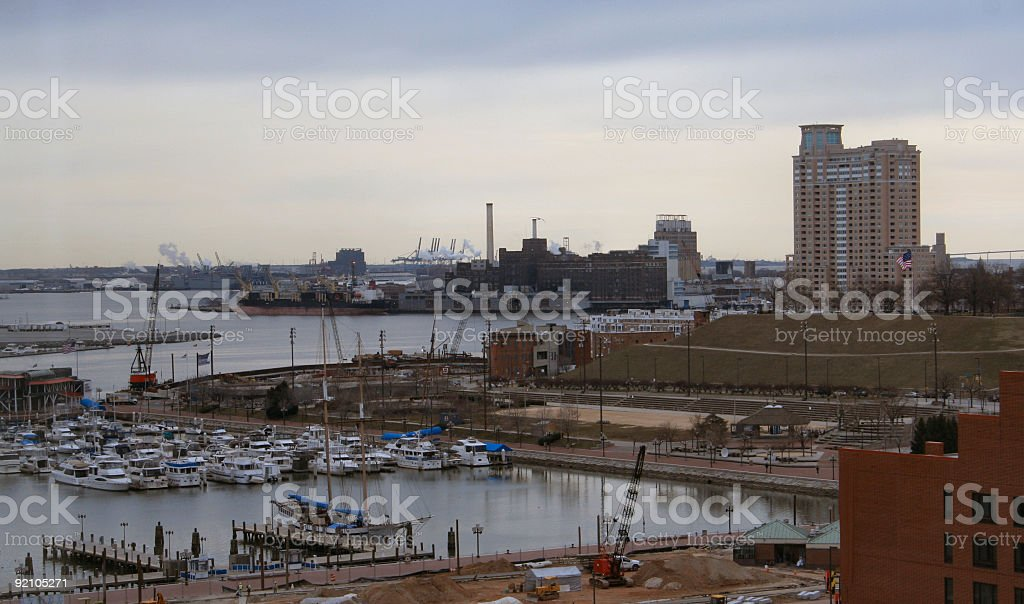 Baltimore Inner Harbor South-West 1 stock photo