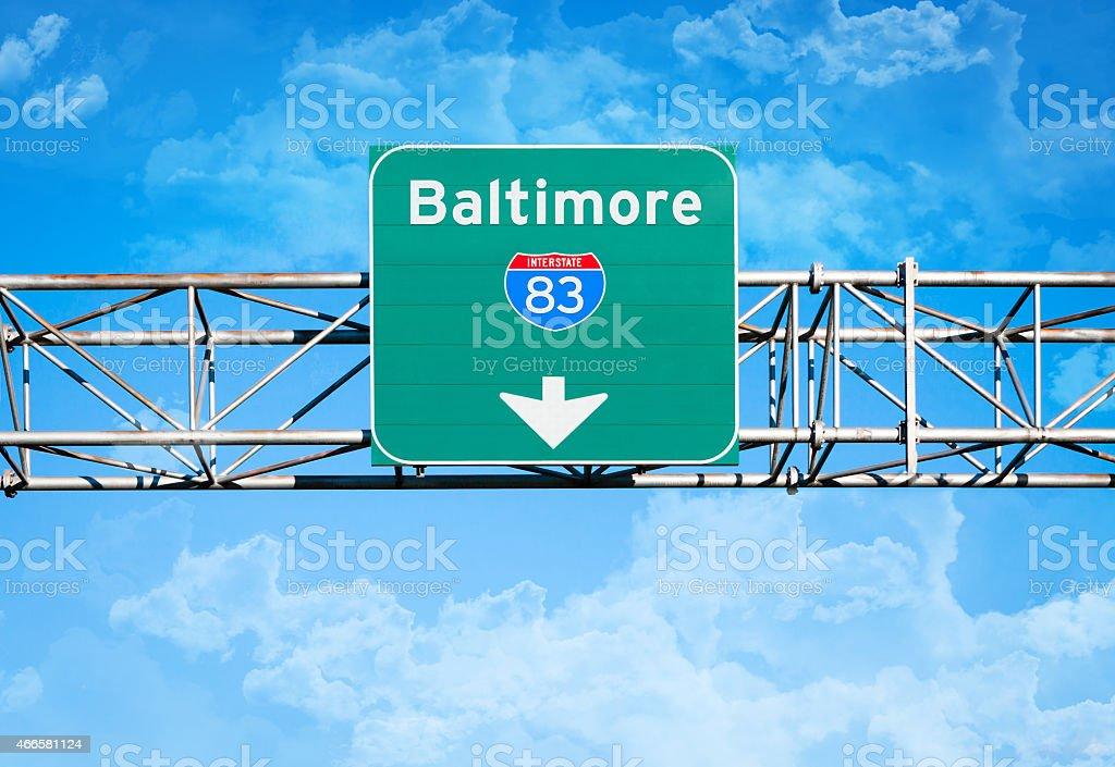Baltimore Interstate 83 Sign stock photo