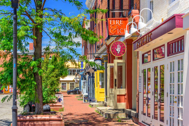 Baltimore Maryland at Fell's Point stock photo
