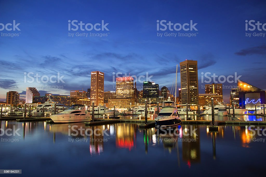 Baltimore, Maryland - Inner Harbor stock photo
