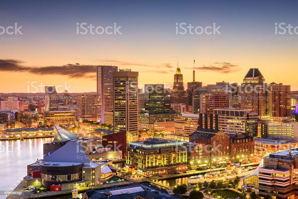 Baltimore, Maryland Skyline stock photo