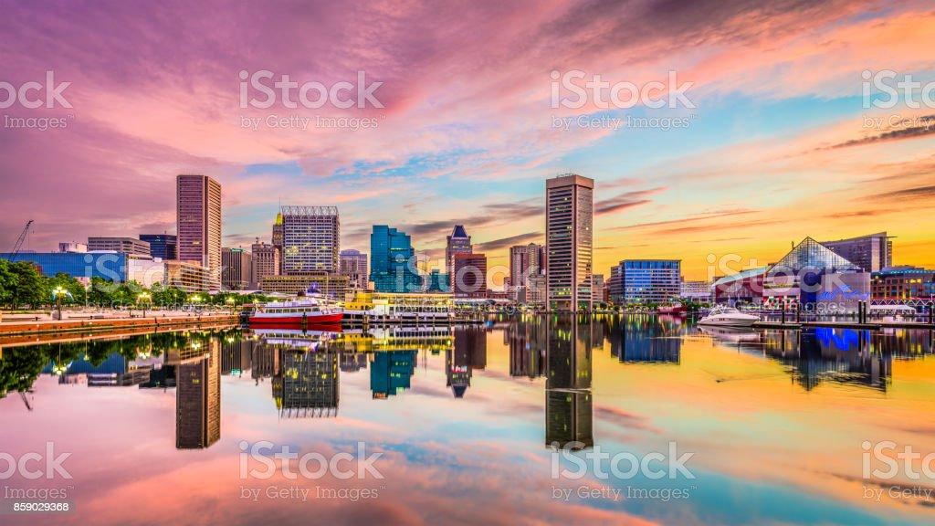 Baltimore, Maryland Skyline royalty-free stock photo