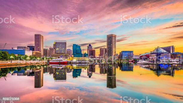 Baltimore Maryland Skyline Stock Photo - Download Image Now