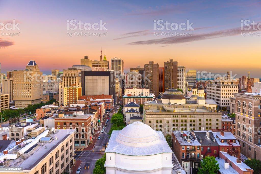 Baltimore, Maryland, USA Cityscape stock photo