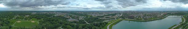 Baltimore Maryland USA Panoramic Aerial View Druid Hill Park stock photo