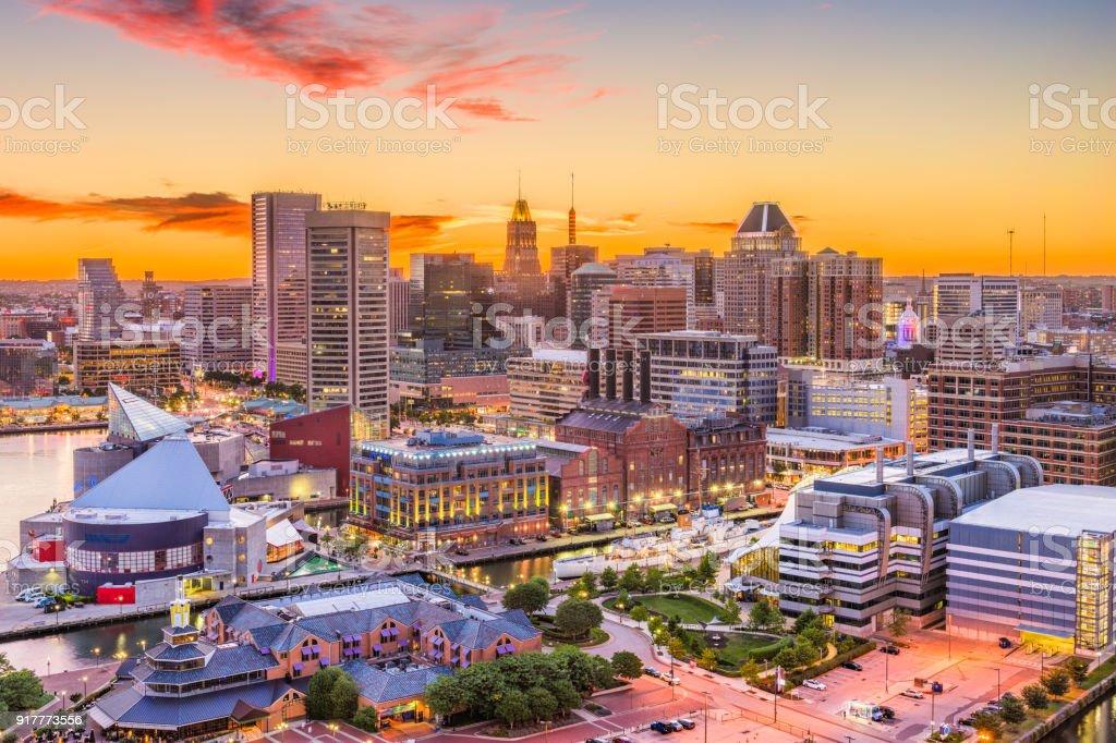 Baltimore, Maryland, USA Skyline stock photo
