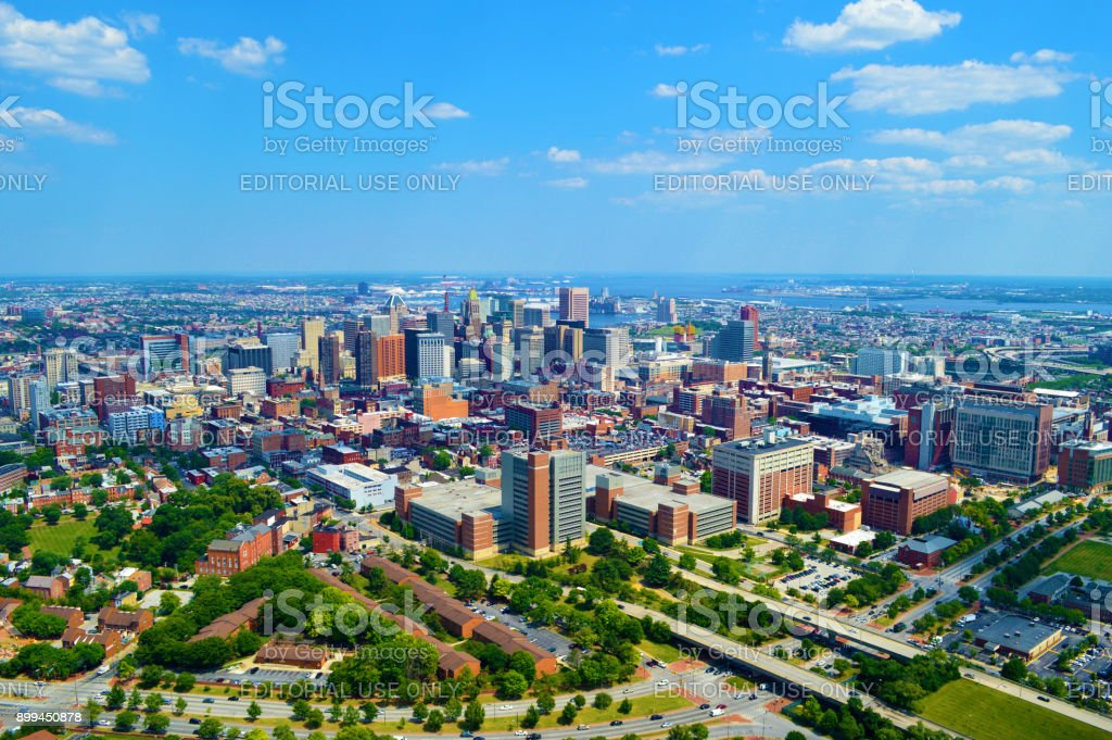 Baltimore, MD Aerial Photo stock photo