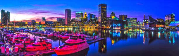 Baltimore, MD Harbor Dusk stock photo