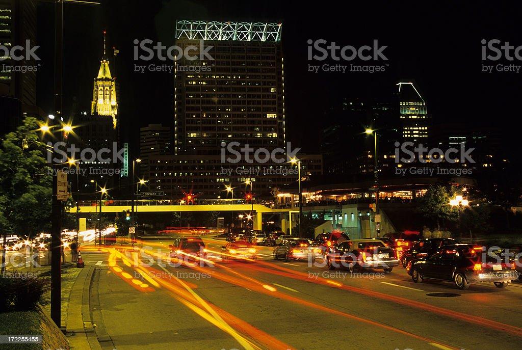 Baltimore Night stock photo