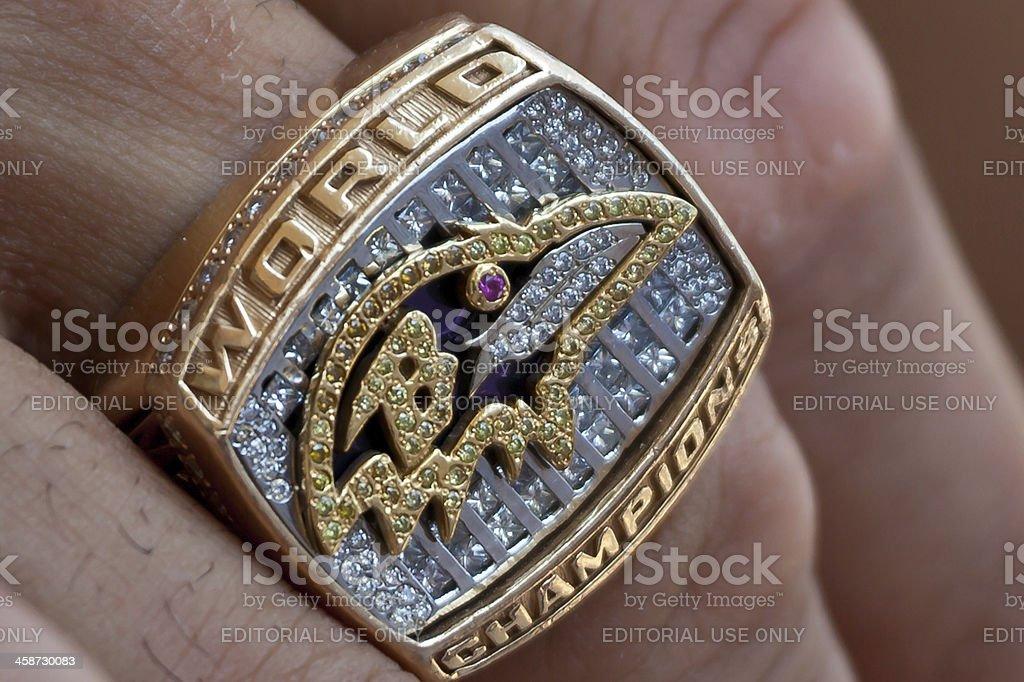 Baltimore Ravens Super Bowl Ring stock photo