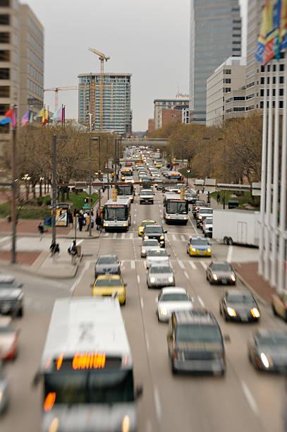 Baltimore rush hour stock photo