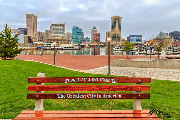 Baltimore The Greatest City In America This is an early morning shot of Baltimore's Inner harbor thru my eyes. inner harbor baltimore stock pictures, royalty-free photos & images