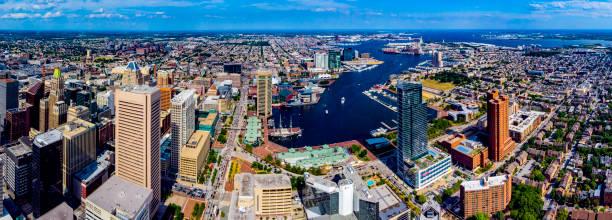 Baltimore,MD Aerial Skyline stock photo