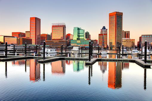 Baltimores Inner Harbor Stock Photo - Download Image Now