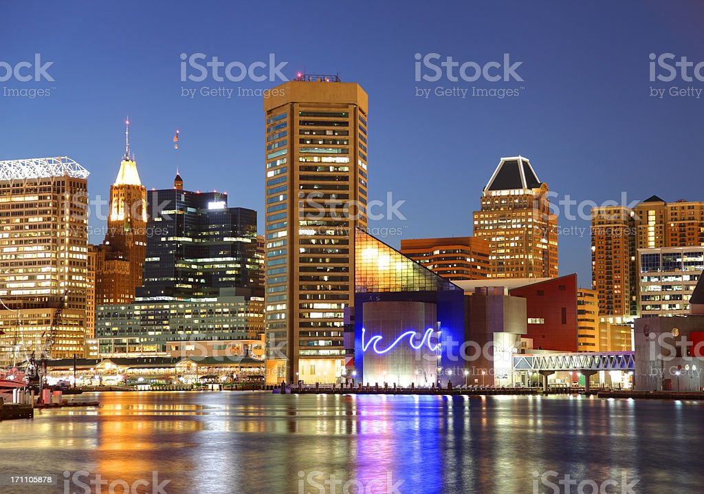 Baltimore's Inner Harbor royalty-free stock photo