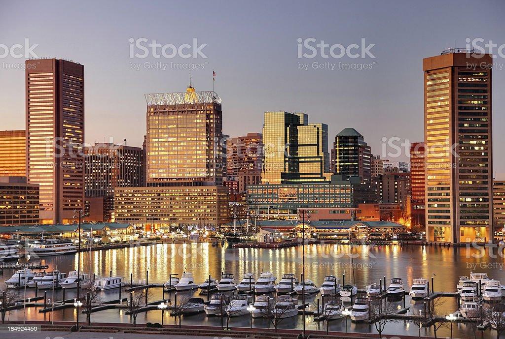 Baltimore's Inner Harbor stock photo