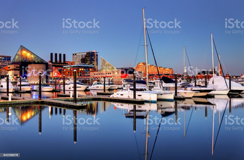 Baltimore's Inner Harbor stock photo