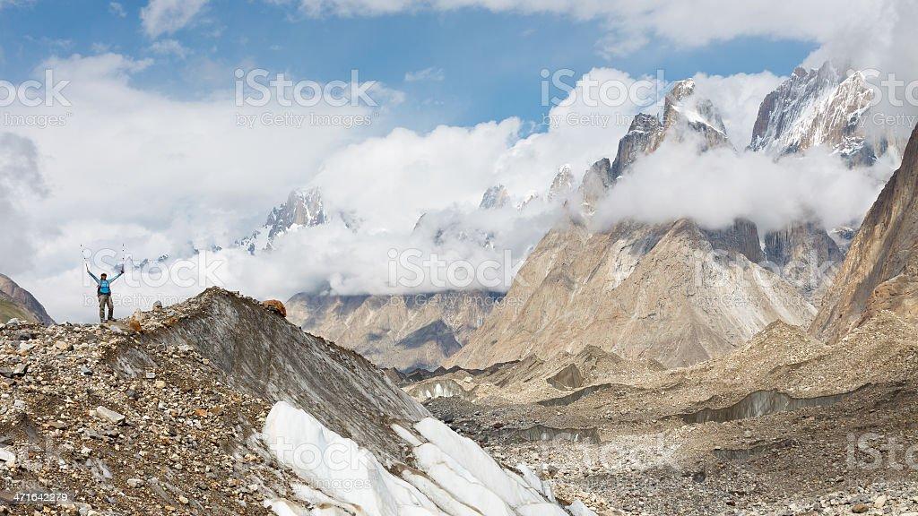 Baltoro Glacier Trekking royalty-free stock photo