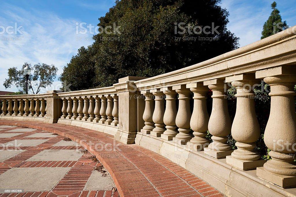Balustrade Courtyard stock photo