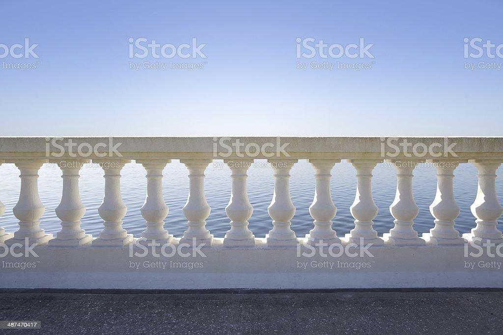 Balustrade stock photo