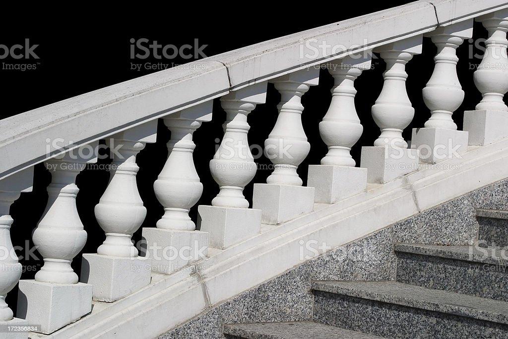Balustrade white royalty-free stock photo
