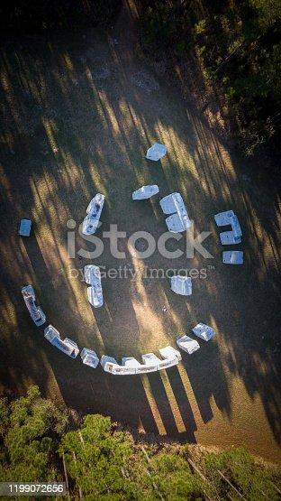 Bamahenge Aerial View ,Alabama USA