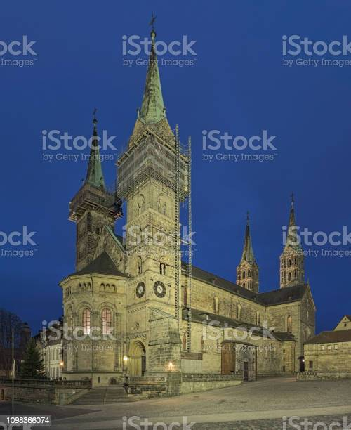 Cologne Cathedral At Dusk Evening Cityscape Wallpaper: Dom,church,bamberg Cathedral,1880,germany