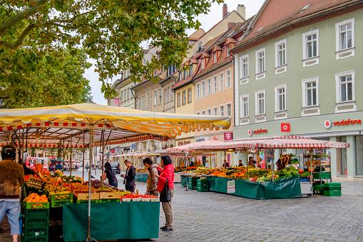 Bamberg, Green Market (Bavaria, Germany)