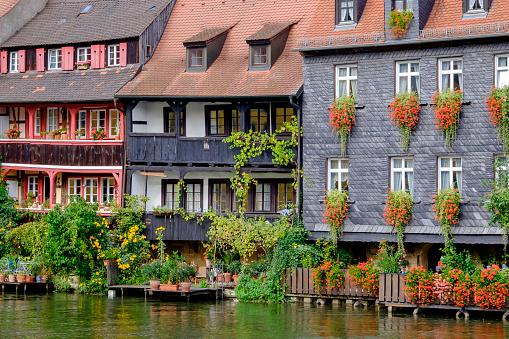 Bamberg, Klein Venedig - Little Venice along the Linker Regnitzarm river (Bavaria, Germany)