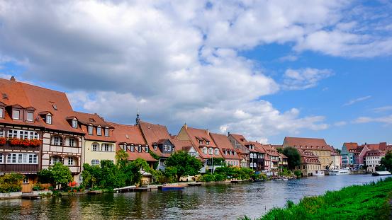 Bamberg, Klein Venedig - Little Venice - along the Linker Regnitzarm river (Bavaria, Germany)