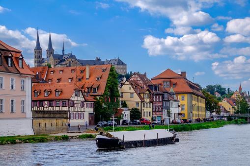 Bamberg, Linker Regnitzarm river (Bavaria, Germany)