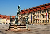 Old town square in Bamberg, Bavaria