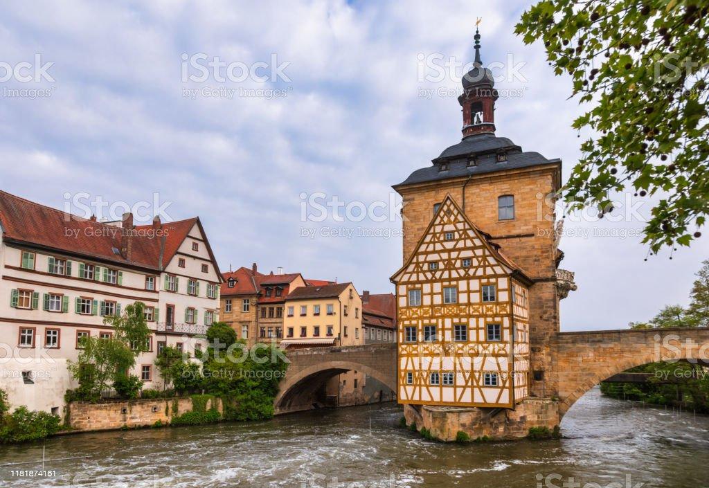 Bamberg oude stadhuis Beieren Duitsland - Royalty-free Architectuur Stockfoto