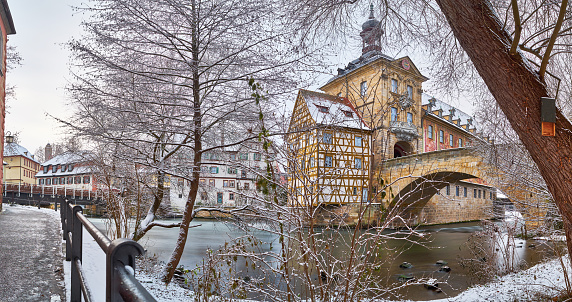 Bamberg Old Town Hall in Winter