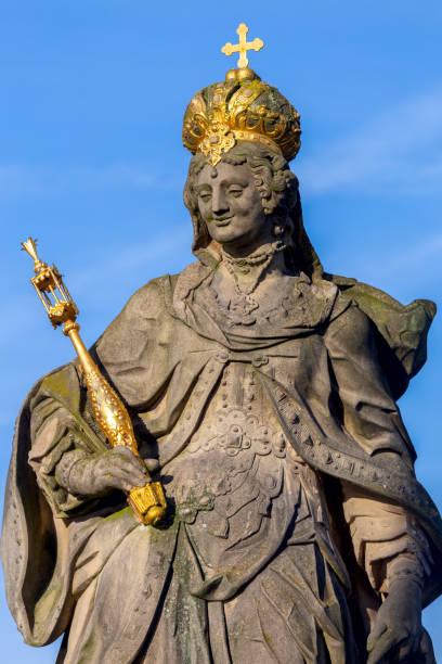 Bamberg. Statue of St. Kunigunda. stock photo