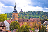 Bamberg. Town of Bamberg panoramic view from Michaelsberg to famous landmarks, Upper Franconia, Bavaria region of Germany