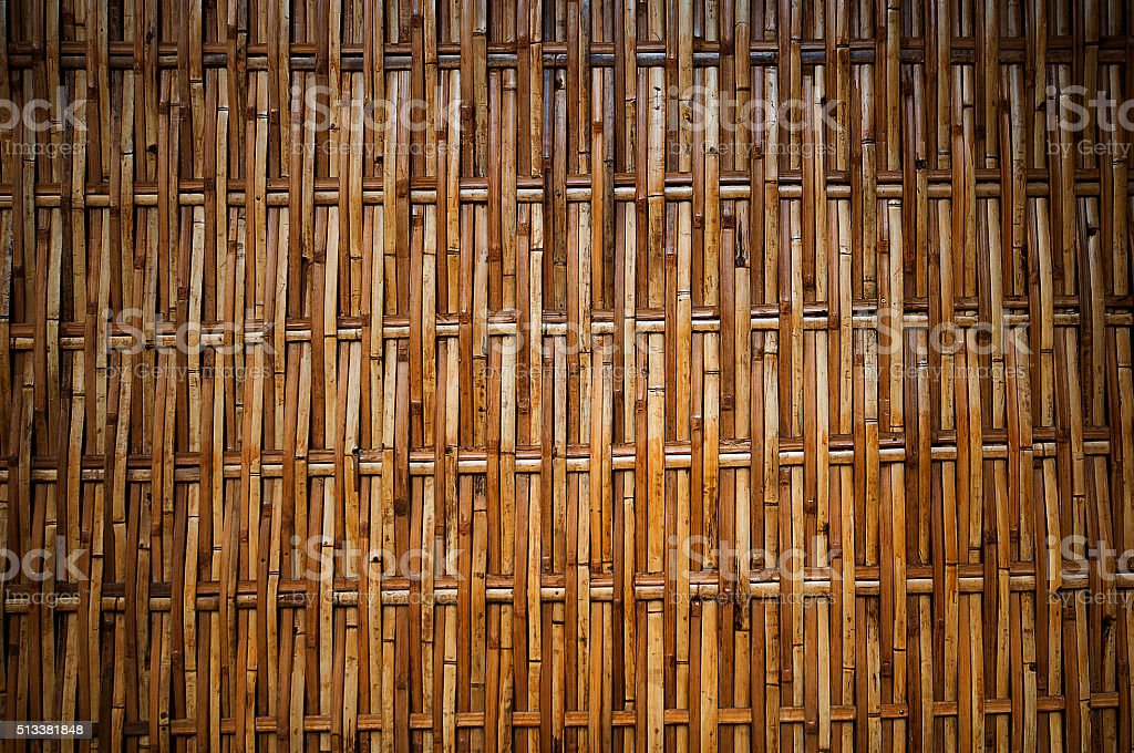 Bamboo , a wall,Thailad stock photo