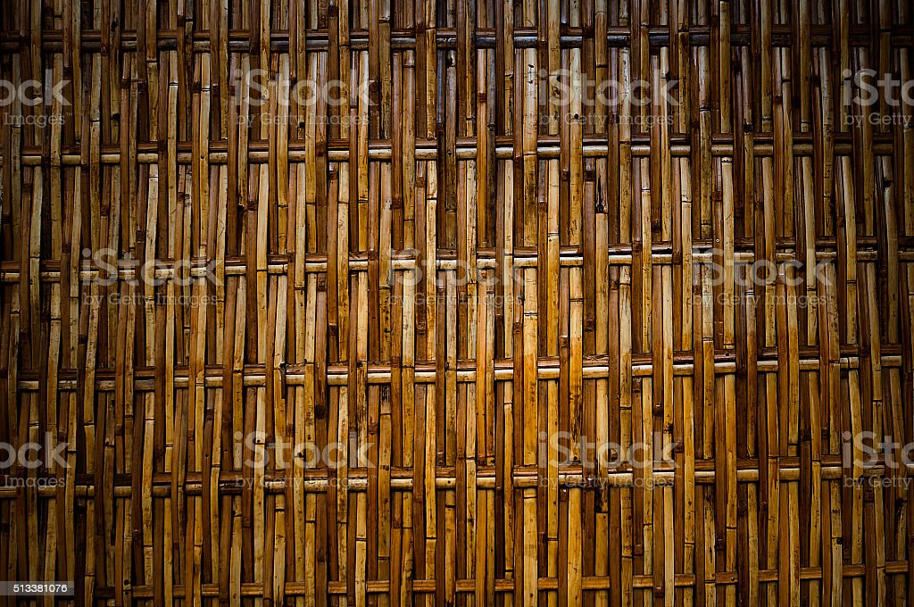 Bamboo , a wall,Thailand stock photo