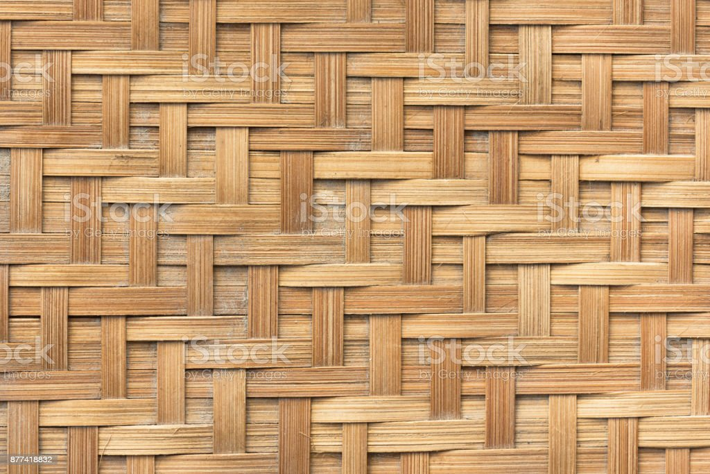 Bamboo basket weave pattern  texture background. Background and texture concept stock photo