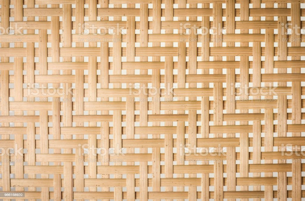 Bamboo basketry texture background. - Foto stock royalty-free di Arredamento