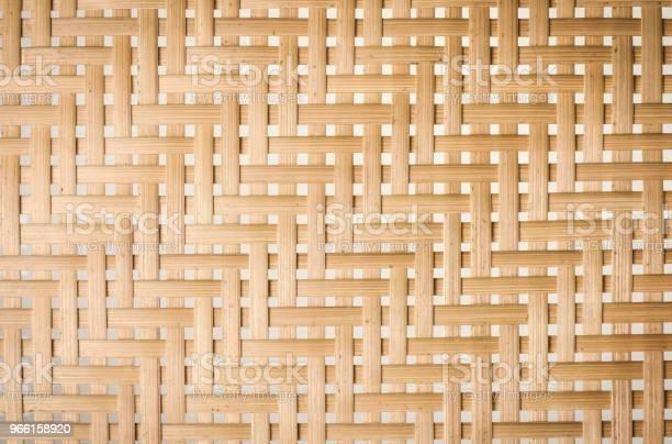 Sfondo Texture Basketry Di Bambù - Fotografie stock e altre immagini di Intrecciare Cestini