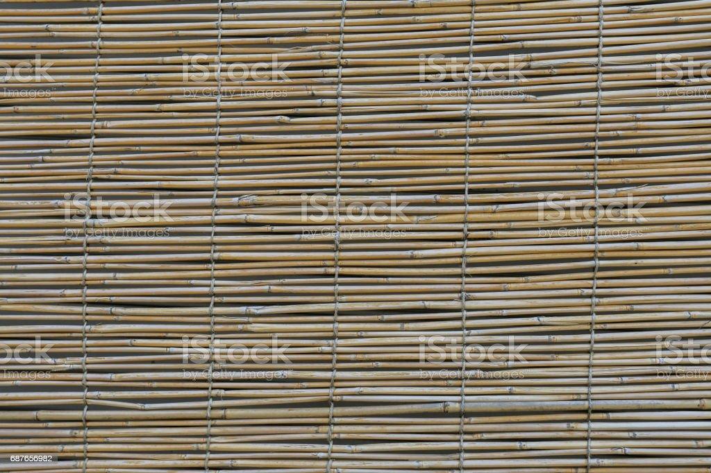 bamboo blind pattern background stock photo