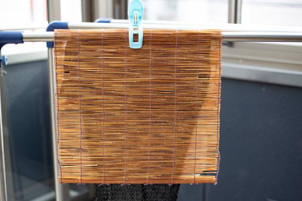 Bamboo blinds stock photo