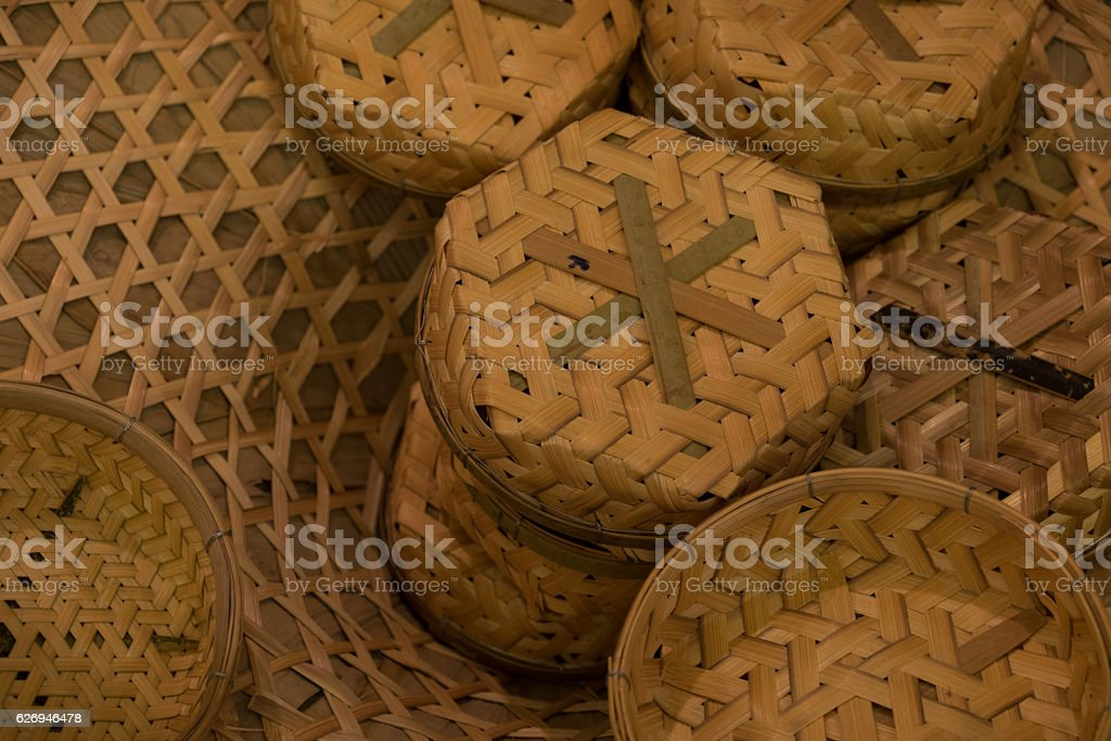 Bamboo box stock photo
