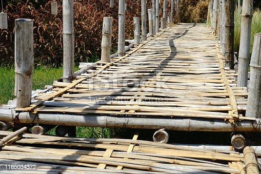 Asia, Thailand, Bamboo - Material, Bridge - Built Structure, Mae Hong Son Province