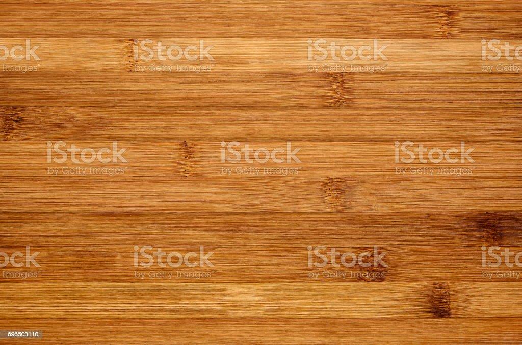 Bamboo brown wood texture, horizontal plank, top view, closeup. stock photo