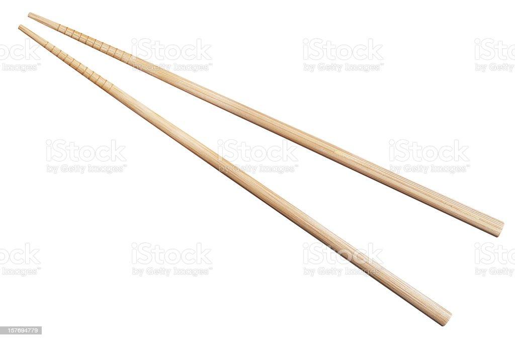 bamboo chopsticks isolated on white royalty-free stock photo